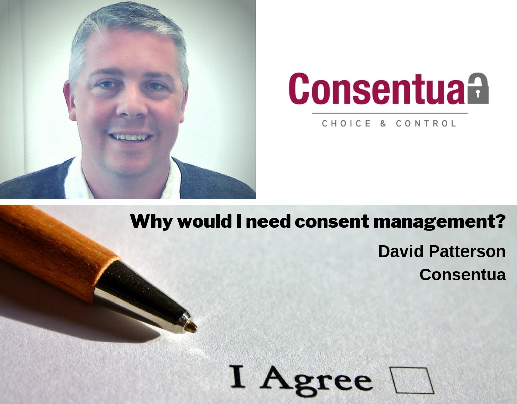blogpost hero image for Consent Management author David Patterson