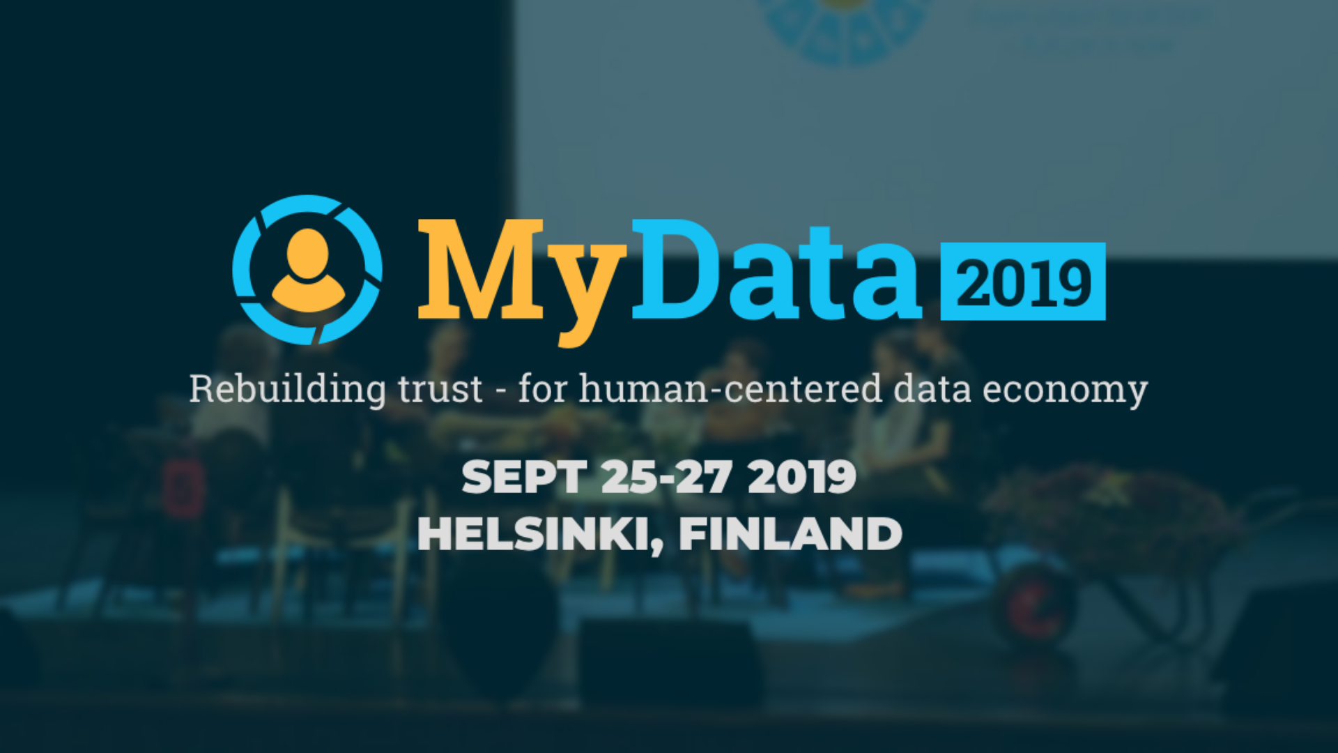 Logo for MyData 2019 event where the Consent Receipt Demo was shown
